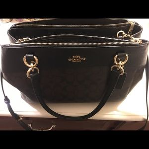 Coach Purse Brooke Carryall Brown And Black NWOT